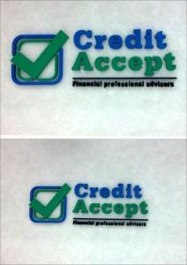 Debitare litere polistiren - credit accept